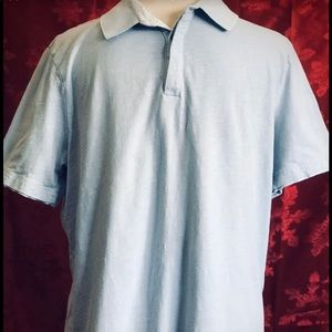 "Men""s  Alfani Lt Blue Polo Shirt Sz L"